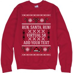 Virtual Race Custom Ugly Sweater
