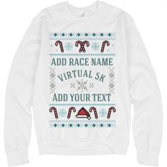 Custom Race Holiday Ugly Sweater