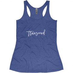 White on Blue Transcend tank