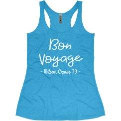 Bon Voyage! Custom Family Cruise Racerback Tank