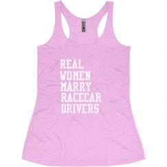 Real women marry racecar drivers