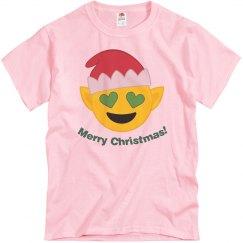 Elf Christmas Emoji  pink