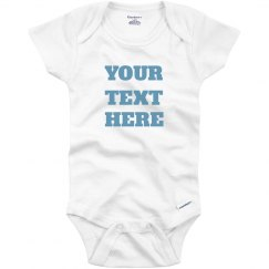 Add Custom Text On Your Baby Onesie
