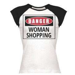 Danger woman shopping