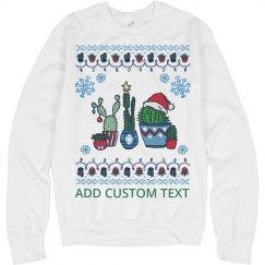 Custom Ugly Cactus Christmas