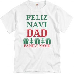 Custom FeliznaviDAD Family Christmas