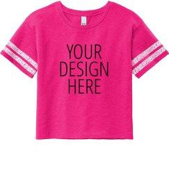 Custom Text Design Crop Top