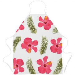 Tropical Flower Apron Print