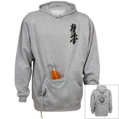 Drink Holder Sweatshirt with Kanji and Logo