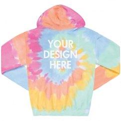 Unisex Tie-Dye Fleece Hoodie