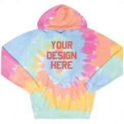 Custom Text Tie-Dye Hoodie