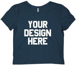 Add Your Design Crop Tee