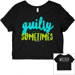 Guilty Sometimes Black Crop Tee