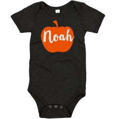 Custom Name Halloween Pumpkin Baby