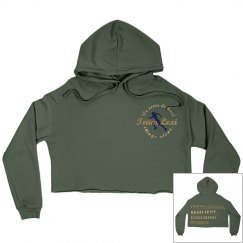 Team Lexi - CREW - Women's Crop Military Green & Gold