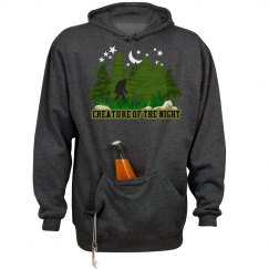 Creature of the Night Bigfoot Pocket Hoodie