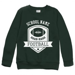 Custom Football Emblem Kids Youth Sweatshirt