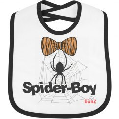 spider halloween bib