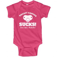 Breast Cancer Sucks Baby Onesie With Name