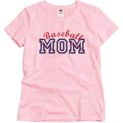 Baseball Seams Mom Tee