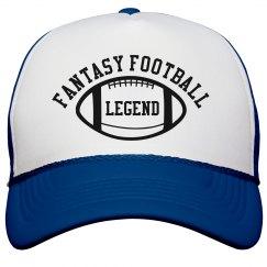 Fantasy Football Legend Blue and White Trucker Hat