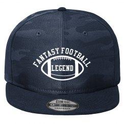 Fantasy Football Legend Black and Grey Camo Trucker Hat