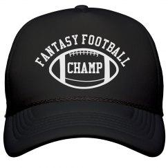 Fantasy Football Champ Black Trucker Hat