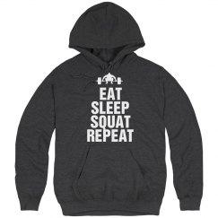 Eat sleep squat repeat