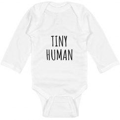 TINY HUMAN LONG SLEEVE BODYSUIT