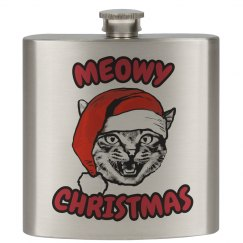 Meowy Christmas Flask