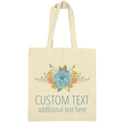 Custom Text Floral Spring Event Bag