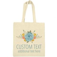Custom Text Floral Spring Event Bag