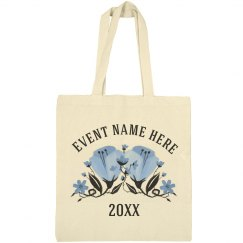 Custom Spring Event Blue Floral Bag