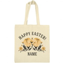 Custom Spring Floral Easter Bag