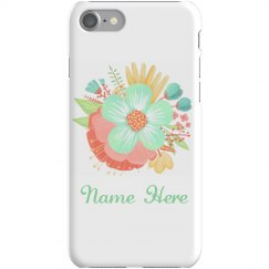 Trendy Custom Floral Phone Case