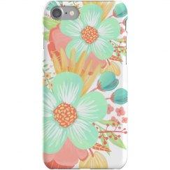 Spring Floral Painted Flower Case