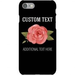 Trendy Floral Custom Case