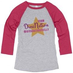 """DivaNation's """"Team Diva"""" T-Shirt"""