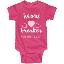 Lil' Heartbreaker Custom Baby Onesie