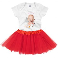 Tutu Cupid Custom Photo Onesie
