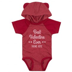 Best Valentine Hooded Onesie