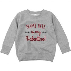 Custom Name Valentine Toddler Sweater