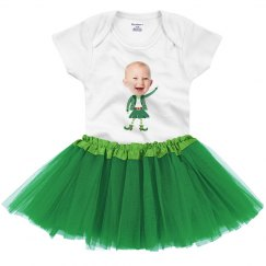 Leprechaun Upload Tutu Onesie