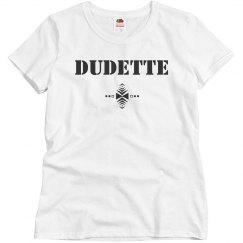 Dudette/dude couples tee