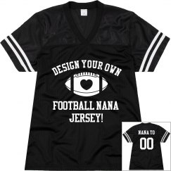 Custom Football Grandma Jerseys With Name Number