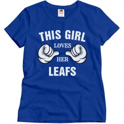 This girl loves her Leafs