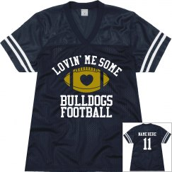 Bulldog Football Jersey