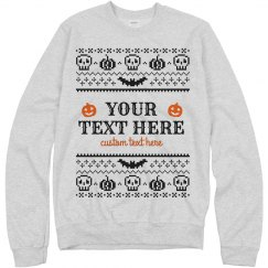 Custom Halloween Ugly Sweater Sweatshirt