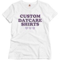 Custom Daycare Shirts for Teachers