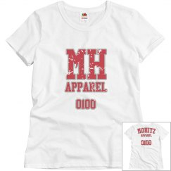 WOMENS MOHITZ TSHIRT (WHITE/RED L)